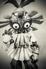 majoras mask (timp37) Tags: toy majoras mask link legend zelda black white skull kid