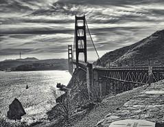 DSC_8258a (garofano_richard) Tags: clouds bridge ocean water rocks tower cars bushes boat signs sanfranciscoca suspensionbridge