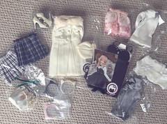 My biggest clothing haul ^^ (ArcticFawn) Tags: bjd abjd clothing girl girly kaleidoll kaleido meow house haul taobao mv studio rosemary town fashion doll clothes