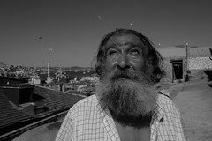 Man looking at the sun (K.BERKİN) Tags: eye turkey tourism eyes human oldman old people portrait photo alpha street streetphoto streetphotograpy sun goldenhorn homeless hot life leica blackwhite istanbul city bosphorus nature naturel mirroless man