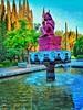 ○● XOCHIPILLI príncipe de las flores 🌷🌼🌹🌺🌸Dios del amor y la belleza.●○ (ivethmendez86) Tags: xochipilli parque park flores trees verde green escultura estatua fuente agua water blue natur naturaleza nature colorful colors mexico