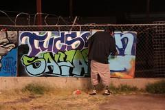 Graffiti Art and Documentary Filming (lars hammar) Tags: openspacechurch openartnight graffiti graffitiart documentary