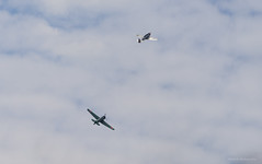 The pacific war (Falcon_33) Tags: mitsubishi northamerican warbird wwii plane avion aircraft airshow lafertealais2015 fertealaisairshow2015 clouds cloudy nuages ciel show raw falcon®photography france french français bwfpro manfrottobefreecarbon zeiss sonyalpha7mkii sonyglensfe70200mmf40oss