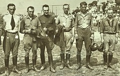 The six pilots who came to pick up the new Standard Aircraft, JR-1B, at the plant in Elizabeth NJ Aug. 1918  NARA165-WW-556D-004 (SSAVE over 12 MILLION views THX) Tags: usps unitedstatespostalservice airmail 1918 airplane aircraft armyaircorps