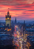 Edinburgh Red Sky Sunset (www.edinburghhd.co.uk) Tags: favourite edinburgh cityscape scotland red sky princes street historic scottish long exposure canon 5d3 balmoral hotel