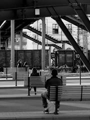 Let's wait (Aga Dzięcioł) Tags: poland białystok wait people train station busstation stairs city urban travel czekać