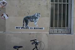 Don't make us history paste-up by Polar Bear (Jürgo) Tags: paris parisstreetart streetart france urbanart streetartfrance publicart paste pasteup wheatpaste poster posterart tiger polar bear history