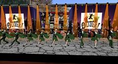 St Columba Catholic school choir (cadeSL) Tags: sl school choir secondlife second life virtual avatar world singing dancing tartan music performance children pupils girls boys perform st columba catholic ohares gap ireland irish stage lights