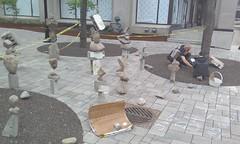 Just Balance! #toronto #yongestreet #apacheta #justbalance #perfectlybalanced #rockpile #publicart #rocks #concrete #mcgillstreetarch (randyfmcdonald) Tags: rocks perfectlybalanced mcgillstreetarch apacheta publicart justbalance concrete yongestreet rockpile toronto