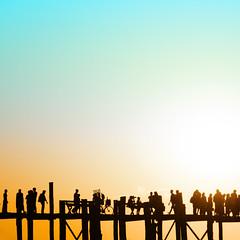 Silhouette 2 (wagnerchristian.com) Tags: fineart silhouette contrast abstract sunset sun myanmar burma ubain 1x1 blue orange