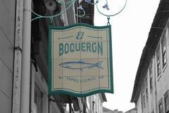 Boqueron (hans pohl) Tags: portugal aveiro publicités advertising signs noiretblanccoloré blackandwhite recoloured