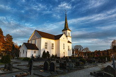 His Kirke (Øyvind Bjerkholt (Thanks for 55 million+ views)) Tags: his hisøya arendal norway kirke church worship symbol architecture cemetery graveyard beautiful landscape history sky clouds dramatic afternoon sunsettime evening scenery canon