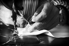 Il Sarto (Michele Fini) Tags: mani stoffa sarto forbici filo mestiere antico macchina taglio