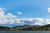 View to Dairy Farmers Hill (i-lenticularis) Tags: canberra dairyfarmershill lakeburleygriffin nationalarboretum p645d p67105f24 autumn bluesky water whitecloud yarralumla australiancapitalterritory australia au