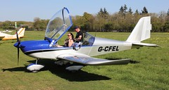 Aerotechnik EV-97 Eurostar G-CFEL 5th May Popham Microlight Trade Fair 2018 (SupaSmokey) Tags: aerotechnik ev97 eurostar gcfel 5th may popham microlight trade fair 2018