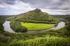Wailua River Bend (lycheng99) Tags: waiure river wailureriver bend riverbend horseshoebend horseshoe mountains sky landscape green kauai hawaii tropical travel tropics