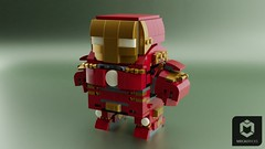 Brickheadz Hulkbuster Armor -- updated version has been uploaded (ORION_brick) Tags: iron man hulk hulkbuster suit armor ultron age avenger avengers marvel lego brickheadz