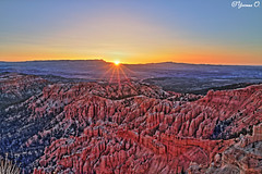 Sunrise over Bryce Canyon HDR (Yvonne Oelsner) Tags: brycecanyon utah hdr landscape scenery sunrise light sky
