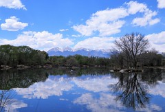 Clouds Above and Below (Patricia Henschen) Tags: sands sandslake statewildlifearea swa lake mountains reflection reflections salida colorado sawatch range spring clouds smelter