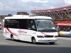 Millenium 3553FH Mansfield (Guy Arab UF) Tags: millenium travel 3553fh mercedes benz vario o814d autobus classique midicoach mansfield bus station nottinghamshire buses