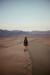 angle of repose (nathmart) Tags: california film 35mm desert mesquiteflat dunes deathvalley sand dusk 400 kodak portra canonae1