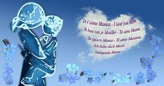 180503 fmb 180513 © Théthi (thethi (pls, read my 1st comment, tks a lot)) Tags: conceptuel fête mère maman mother femme enfant tradition amour fleur ciel nuage coeur dessin creation belgique belgium photoshopped myosotis 7dwf faves44 faves49