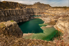 Tropical Derbyshire (darrenball189) Tags: quarry disused uk landscape stone nature rock england lake old water britain rugged track outdoor path rural english abandoned mine blue ruin green derbyshire greatbritain derelict remains limestone unitedkingdom beautiful outdoors pit peaceful