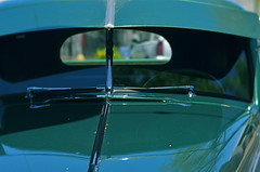 I Knew The Coupe Had Been Tailing Me (MPnormaleye) Tags: windshield mirror reflection shiny chrome design 1940s classic style lensbaby 56mm hood