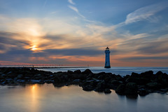 Decommissioned Lighthouse (gmorriswk) Tags: 06softndgrad 30nd firecrest hitech formatt wallasey england unitedkingdom gb new brighton lighthouse river mersey estuary landscape cloudscape sunset seascape sea
