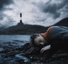 Thrown ashore (Alexander Shark) Tags: dark darkness boy portraits waves water sea lake ocean river drops lighthouse sweater air cold clouds sky atmosphere landscape mountains spring stones beach ashore