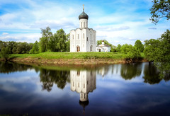 Church of the Intercession on the Nerl (svklimkin) Tags: church russia religious christianity svklimkin