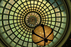 Tiffany Dome (chantsign) Tags: chicago tiffany dome chicagoculturalcenter glass light ceiling lighting circle chandelier
