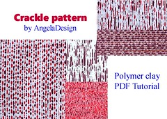 Polymer clay crackle pattern (Angela.B) Tags: polymerclay fimo tutorial pdf colorful combination crackle