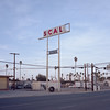 scal. holtville, ca. 2018. (eyetwist) Tags: eyetwistkevinballuff eyetwist scal diesel holtville elcentro bleak decay california mamiya 6mf 75mm kodak portra 160 ishootfilm analog analogue mamiya6mf mamiya75mmf35l kodakportra160 ishootkodak film emulsion mamiya6 square 6x6 mediumformat 120 filmexif iconla epsonv750pro lenstagger roadsideamerica gas gasoline station gasstation american west newtopographics sign type typography missing letters palmtrees imperialvalley wires smalltown dusk sunset street empty scale weight