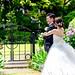 Bride and Groom in Minato-no-Mieru-Oka Park, Yokohama : 港の見える丘公園にて