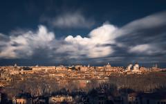 Past, Present and Future (Fran4Life) Tags: roma rome gianicolo clouds cloudscape long exposure 30sec wind windy city cityscape landscape fran4life blue orange architecture skyline