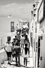 Streets of Oia. Santorini. Greece. (rededia) Tags: city cityscape street streetview people travel greece monochrome black blackandwhite nikon d850 skancheli