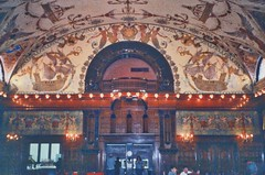 St Augustine  Florida - Ponce de Leon Hotel - Flagler College -  Dining Room (Onasill ~ Bill Badzo) Tags: dining room original nrhp florida fl st augustine historic city historical ponce de leon hotel flagler college interior dome mural standard oil henry founder architecture style spanish renaissance carriere hasting architects concrete electricity onasill spanishquarters dc thomas edison adaptive reuse restored johnscounty saint landmark old vintage photo quarters wood geometric lobby