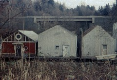 3 huts (Beaulawrence) Tags: film grain analog lomography fpp retrochrome slidefilm ishootfilm filmisnotdead agfasillette agfa vintagecamera plasticfantastic surrey bc industrial nofilter sooc