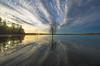 Oneness (RdeUppsala) Tags: uppland hjälstaviken landscape landskap lago lake himmel cielo clouds nubes moln vatten vår primavera paisaje sweden suecia sverige sunset sky spring solnedgång naturaleza nature natur ricardofeinstein water träd