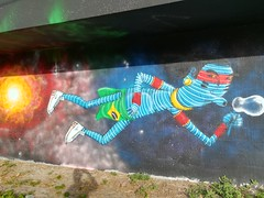 Some amazing art at Wynwood Walls.
