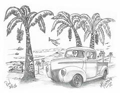 Monterey (rod1691) Tags: myart art sketchbook bw scifi grey concept custom car retro space hotrod drawing pencil h2 hb original story fantasy funny tale automotive illistration greyscale moonpies sketch sexy