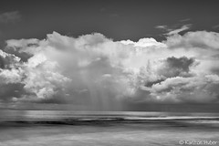 Reef Point - Offshore Rain_B&W_6440 (www.karltonhuberphotography.com) Tags: 2016 bw blackandwhite californiacoast catalinaisland cloudburst clouds drama fallingrain horizontalimage karltonhuber light longexposure moody morninglight nature ocean offshorerain outdoors pacificocean rain raining reefpoint seascape silverefexpro2 southerncalifornia squallline storm water weather