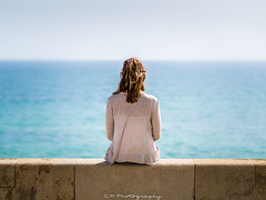 Ocean view (C.A.Photogenics) Tags: colour contrast creative love sea horizon sony a7rii emount holiday portugal uk girl woman women girlfriend fiancee hot sunshine sun