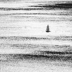 Sailing, minimal (Robyn Hooz) Tags: sail boat porto port docks white bianco black dream route rotta