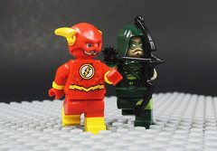 The Brave and the Bold (-Metarix-) Tags: lego super hero minifig dc comics comic flash green arrow barry allen oliver queen cw tv show team up rebirth universe custom duo