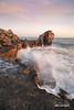 Pounding The Pulpit (macdad1948) Tags: sunset coast shore pulpitrock portlandbill dorset portland weymouth tide waves spray seascape