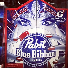 Pabst Blue Ribbon (booboo_babies) Tags: pbr pabstblueribbon sixpack beer alcohol gypsy liquorstore blue advertisement