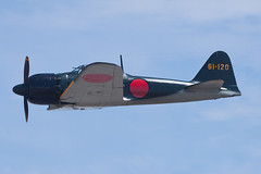 Planes of Fame Mitsubishi A6M5 NX46770 (jbp274) Tags: cno kcno airport airplanes airshow display restored vintage warbird mitsubishi a6m zero planesoffame