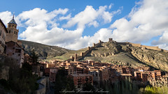 Albarracín (Alejandro Hernández Valbuena) Tags: albarracin aragon castle spain sunset view village ancient antique architecture blue church city destination dusk europe european fort hills landmark sky tower